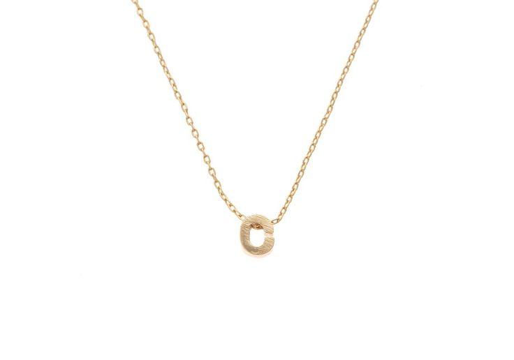 Etched Alphabet Necklace