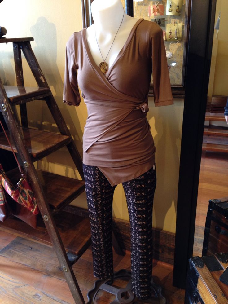 Wrap Top by Melow and Faye Pants by Dagg & Stacey - Made In Canada
