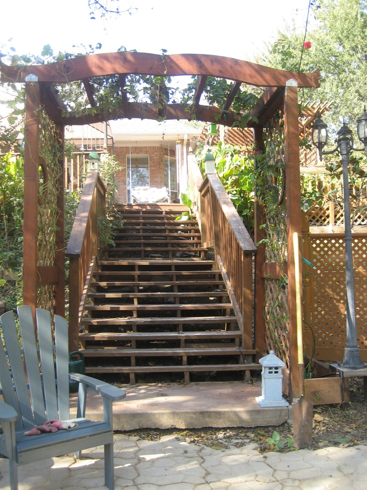 96 best Steps for backyard hill images on Pinterest ... on Backyard Patio Steps id=62275