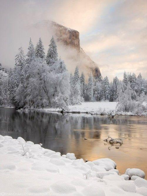 Winter view of El Capitan, Yosemite