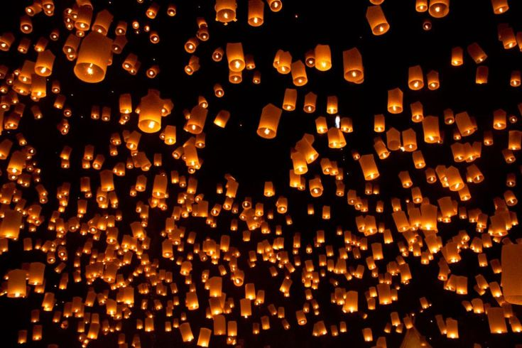 Experience the Floating Lights Festival in Thailand