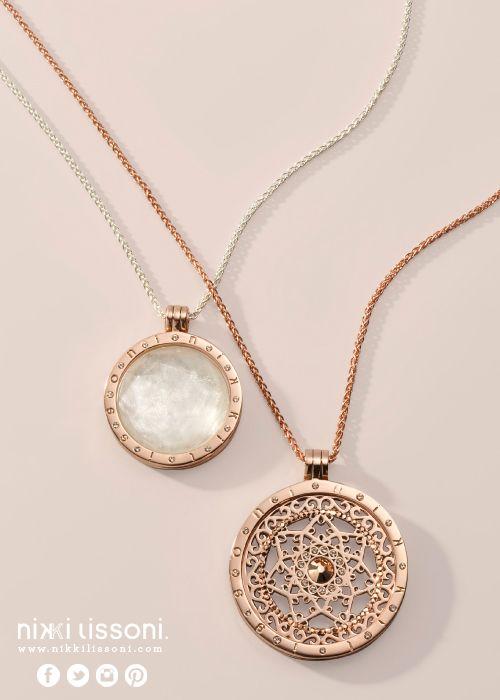 #NikkiLissoni necklaces, pendants and coins (available at shop.nikkilissoni.com)