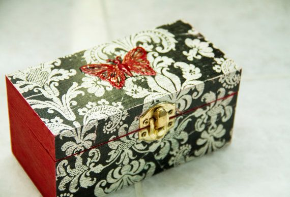 butterfly trinket/ jewellery box
