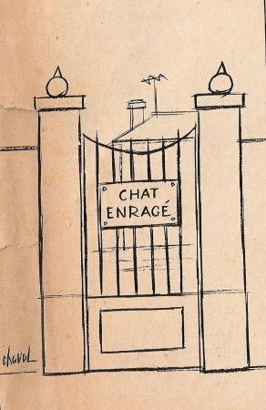 dessinateur CHAVAL. (Match du 25 oct 1958)c