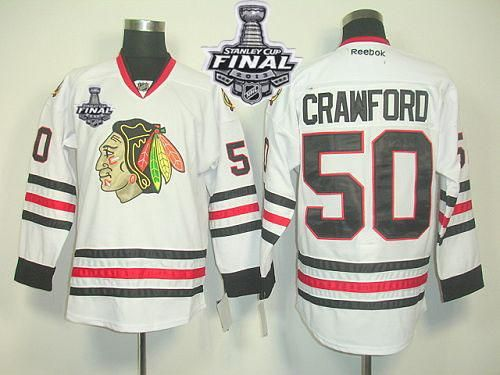 04814d85e1b1 Blackhawks Clark Griswold Red Home Stanley Blackhawks 50 Corey Crawford  White With Stanley Cup Finals Embroidered NHL Jersey ...