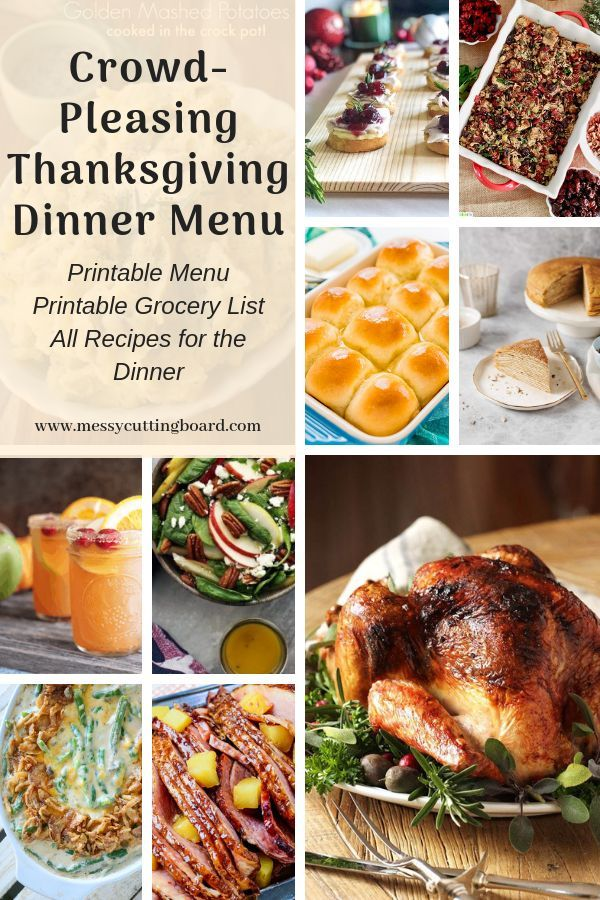 Thanksgiving Menu For A Crowd Thanksgiving In 2020 Thanksgiving Recipes Side Dishes Thanksgiving Menu Thanksgiving Dinner Menu