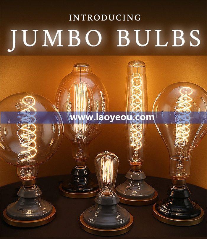 Jumbo Edison bulbs