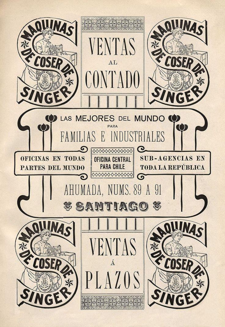 Singer sewing machine ad, 1907. Biblioteca Nacional de Chile.