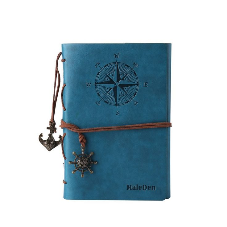 Amazon.com : Leather Writing Journal Notebook, MALEDEN Classic Spiral Bound Notebook Refillable Diary Sketchbook Gifts with Unlined Travel Journals to Write in for Girls and Boys (Sky Blue) : Office Products