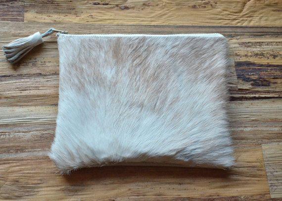 Fall-Winter2015-2016 Fur Calf-Hair Clutch Tassel by loliscreations