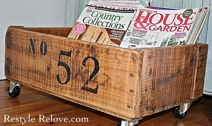 Restyle Relove: Wednesday's Projects Past - Numbered Wooden Crate on Wheels
