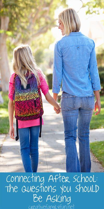 Connecting After School: The Questions You Should Be Asking ~ Creative Family Fun