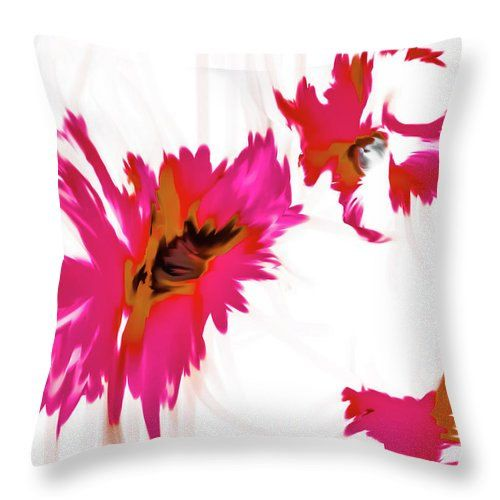 Pink Floral Throw Pillow,Watercolor Drip Style,Abstract Design,Sofa Pillows,Contemporary Pillow Covers,Pink White Couch Cushions,Shabby Chic by HeatherJoyceMorrill on Etsy