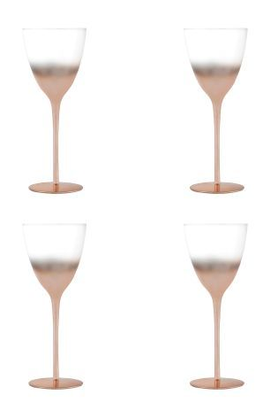 Buy Set Of 4 Copper Effect Wine Glasses from the Next UK online shop
