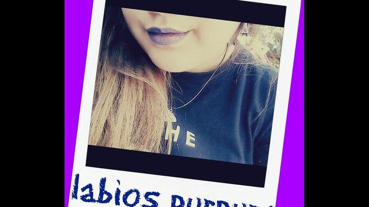 Purple lips 👄