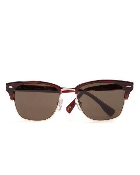 Square frame sunglasses - Dark Red | Sunglasses | Ted Baker UK