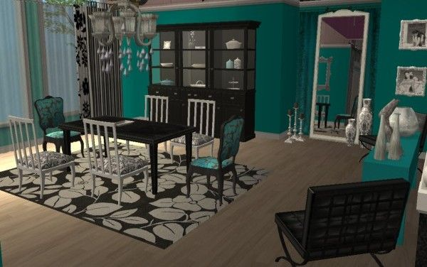 Candice olson inspired glamorous dining room home d cor for Sims 3 dining room ideas