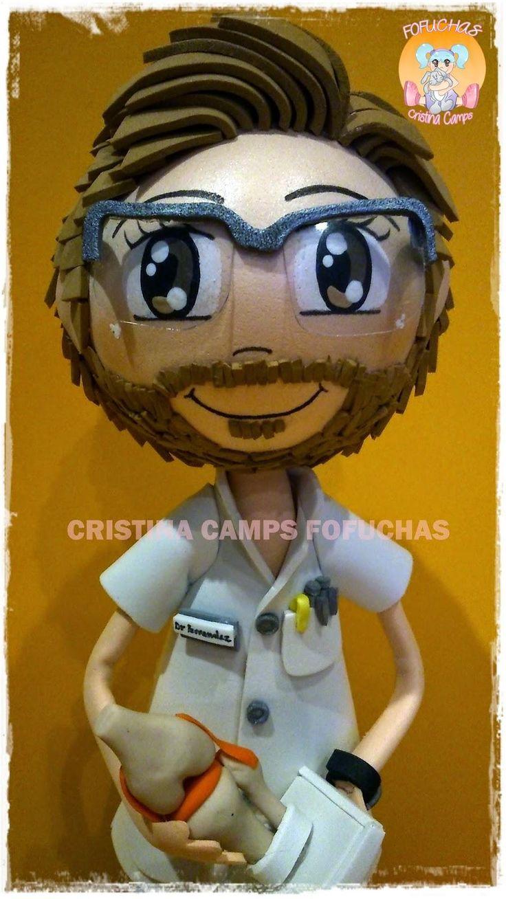 Este #fofucho es el Dr Fernandez, un traumatólogo al que han regalado su #muñecopersonalizado por su maravilloso trabajo.