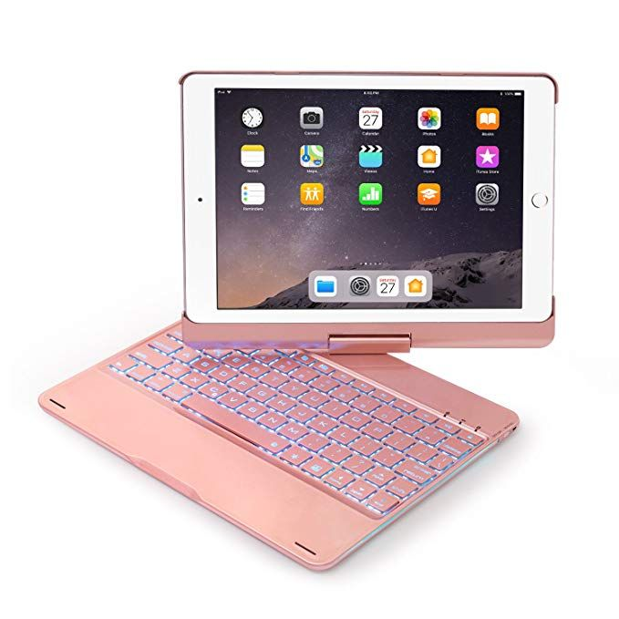 Keyboard Case Compatible With Ipad 2017 5th Gen 2018 New Ipad 6th Gen Air Air2 Ipad Pro 9 7 360 Rotating Keyboard Case Ipad Keyboard Case Bluetooth Keyboard