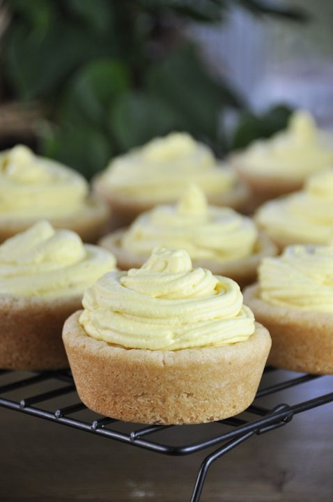 Giant Lemon Mousse Sugar Cookie Cups are the perfect jumbo dessert recipe for spring or Easter.