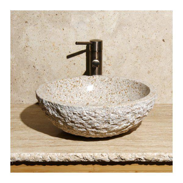 Stone Circular Vessel Bathroom Sink Sink Bathroom Sink Wall Mounted Bathroom Sinks