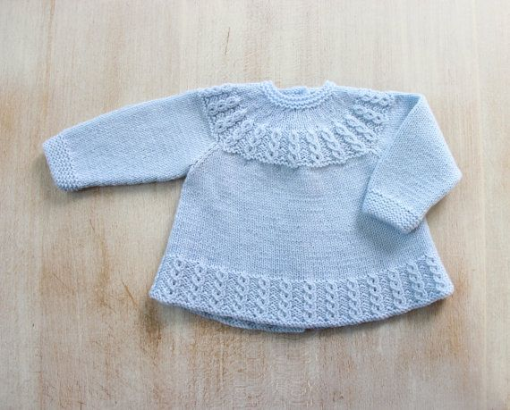 You can find all my patterns in English here : https://www.etsy.com/fr/shop/LittleFrenchKnits?section_id=15372772&ref=shopsection_leftnav_1  You can find all my patterns in French here : https://www.etsy.com/fr/shop/LittleFrenchKnits?section_id=15370495&ref=shopsection_leftnav_2  Blue Baby Jacket Instructions in French PDF Instant download Size Newborn - 3 months  Materials : 100 % Merino wool Fingering 4 ply - 50 g balls - 224 yards (205 meters) 2 Balls One pair each 2,75 mm (US 2 / UK 12)…
