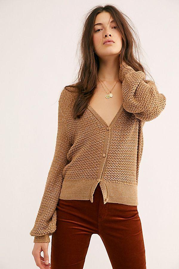 acbc06a4010af1 Illuminate Sweater Cardi - Light Brown Knit Cardigan - Brown Cardigans -  Brown Knit Sweaters - Brown Sweaters - Chunky Sweaters - Chunky Cardigans