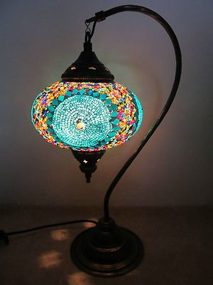 Handmade Turkish Mosaic Lamp Great Decoration $59