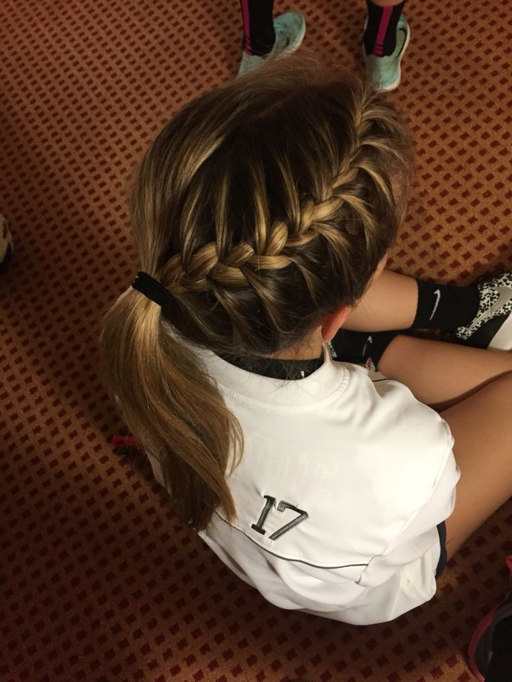 Perfect Braid For A Volleyball Game More Looking For Hair Extensions To Refresh Your Hair Look In Sports Hairstyles Volleyball Hairstyles Sporty Hairstyles