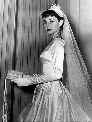 Audrey Hepburn on her Wedding Day 1954.