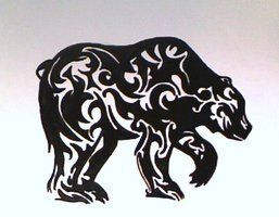 tribal bear silhouette | Tribal Bear Tattoo | tribal bear in tattoo design 2 comments more like ...