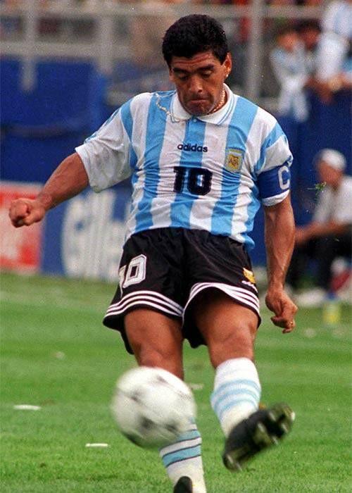 Diego Maradona.Selección Argentina (25/06/1989,Mundial USA' 94,1º ronda,Aregentina 2 Nigeria 1).Último partido de Maradona con la selección.