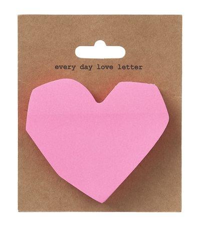 HEMA stationery - Sticky notes in de vorm van een hartje.