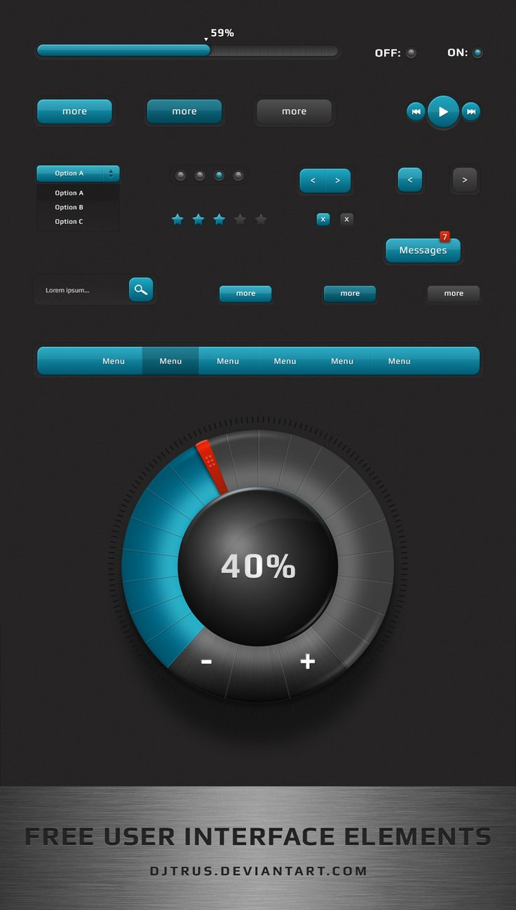 Free user interface elements by djtrus.deviantart.com on @deviantART