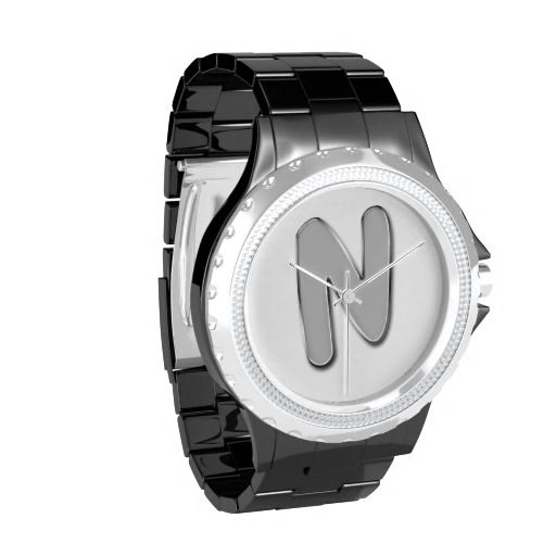 Trendy Metal Monogram Watches