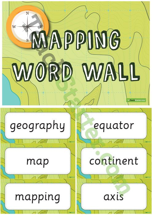 Mapping – Geography Word Wall Vocabulary Teaching Resource