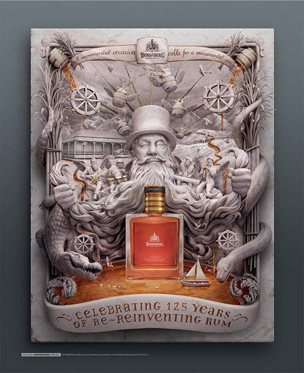 Bundaberg Rum by Carmine Bellucci, via Behance