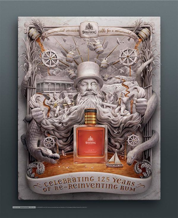 Bundaberg Rum by Carmine Bellucci, via Behance