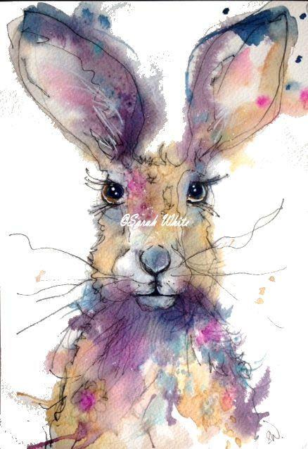 Original Watercolour Hare