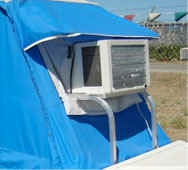 air conditioner bracket leesure lite compact motorcycle tent trailer