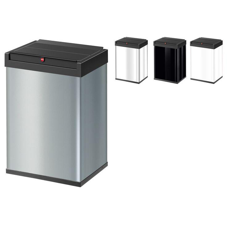 Hailo Big-Box 40 L Swing - Großraum-Abfallbox mit Schwingdeckel   markenbaumarkt24