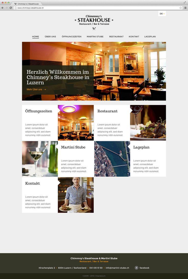 Website für Steakhouse in Luzern