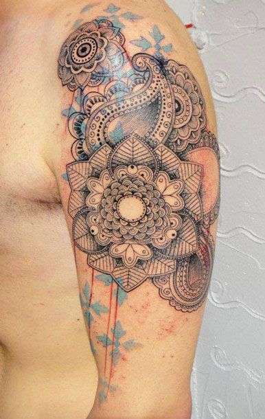 Abstract Flowers Tattoo by Xoil Tattoo | Tattoo No. 10631 #ink #tattoo