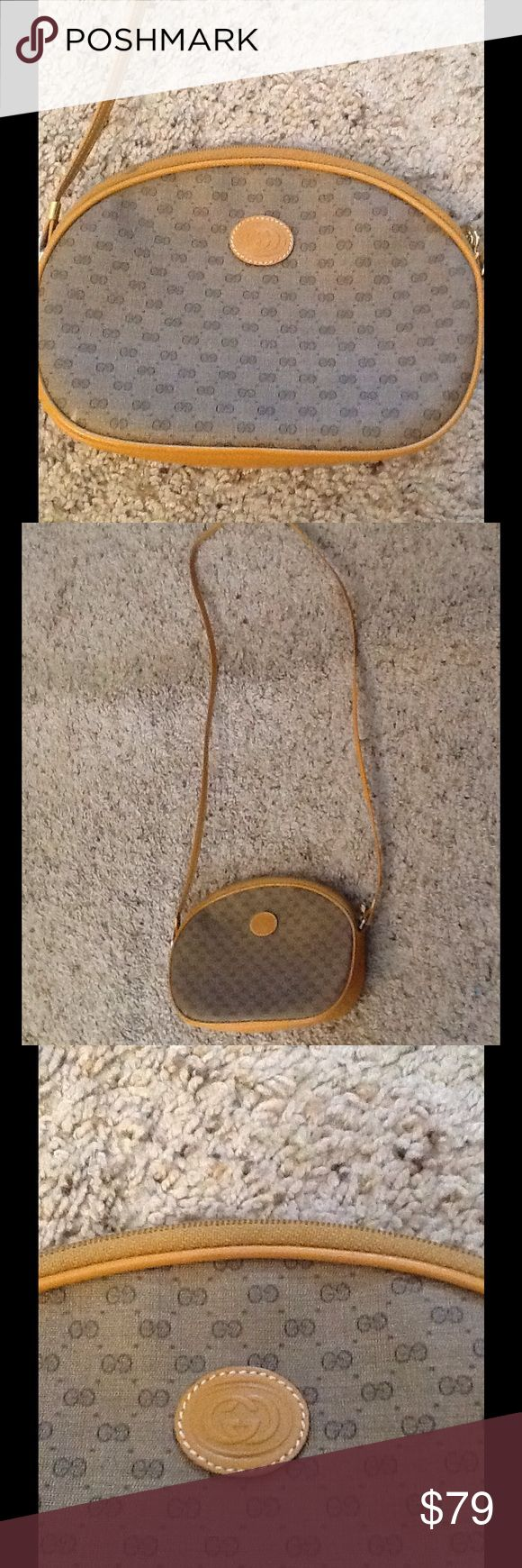 "GUCCI VINTAGE SIGNATURE LOGO GG SHOULDER BAG PURSE Burberry London silk Square scarf. Sheer pink and tan plaid pattern.  Excellent condition.  31"" X 31"".  Just gorgeous!  Will ship right away.  Check out my other designer items Gucci Bags Shoulder Bags"