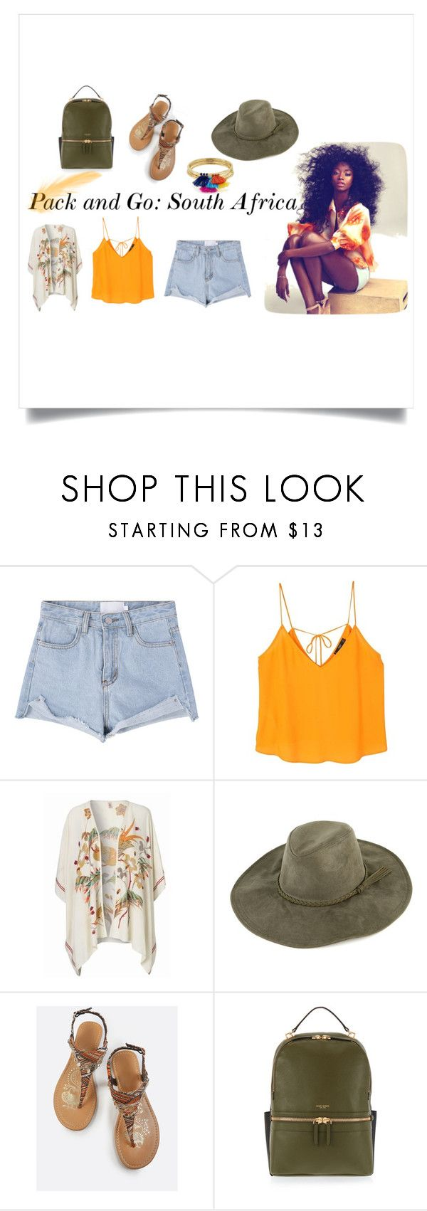 """pack and go: South Africa"" by mayagaleana on Polyvore featuring MANGO, BeckSöndergaard, Henri Bendel and Aqua"