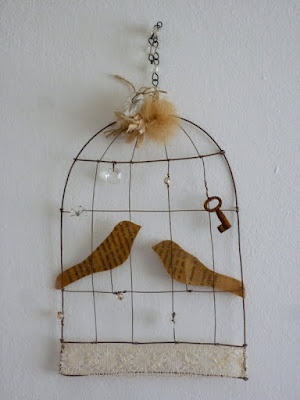 lovely birds and birdcage