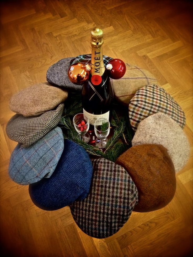 """On the Eleventh day of Christmas my true love sent to me Eleven Classic Caps...""  Whether you are Piping with the Pipers, caroling around the tree, or wassailing with your friends, these English tweed caps will keep your noggin toasty and warm."