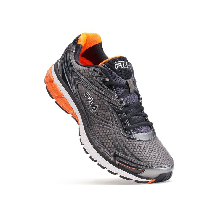 Fila® Nitro Fuel 2 Energized Men's Running Shoes - Endorsed by Shaun T, Size: 11.5, Light Grey
