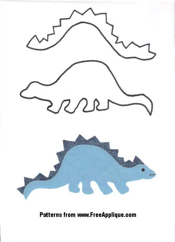 easy boy applique patterns | ... pattern page free dinosaur patterns to use for applique quilting or