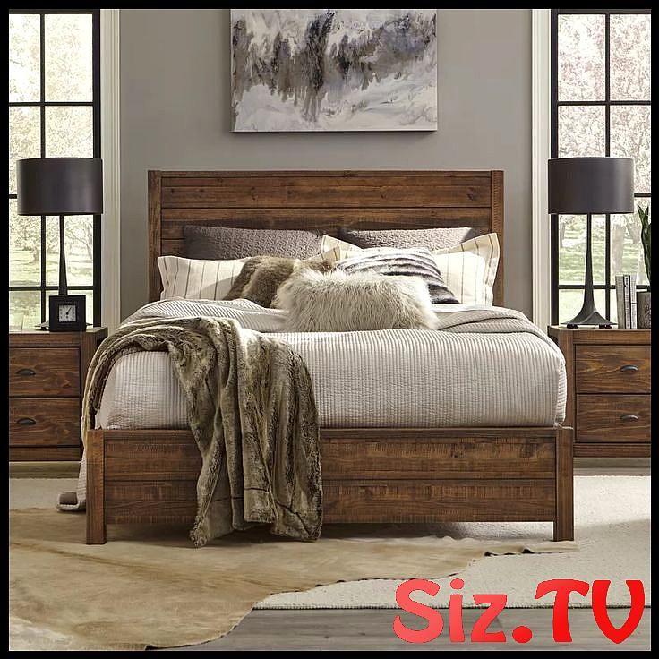 Rustic Bedroom Decor Solid Wood Bed, Joss & Main Furniture